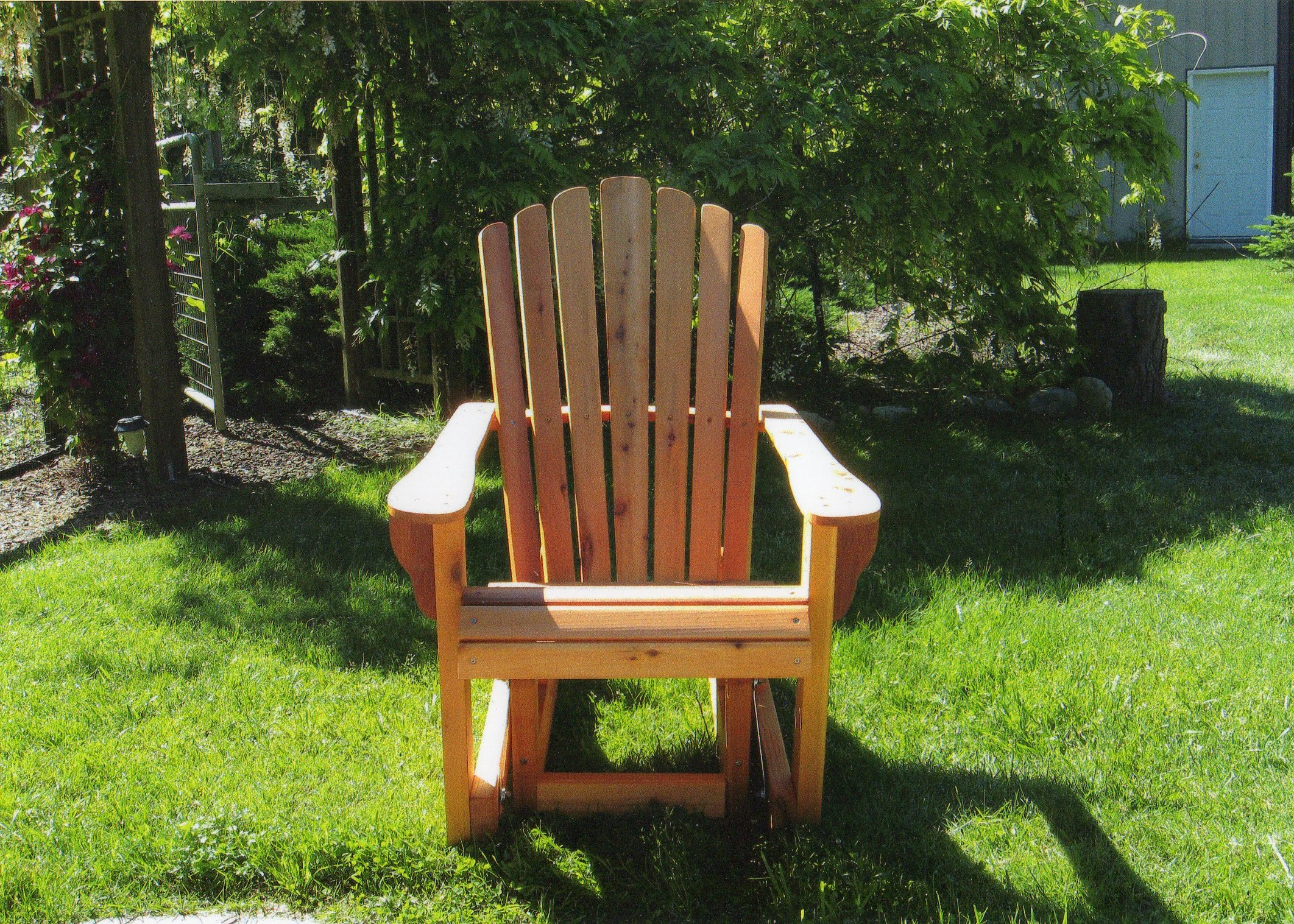 adirondack chairs and benchese hand crafted for lawn and garden